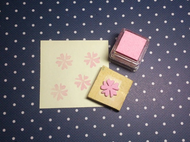 simple flower stamp